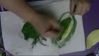 painting front part of leaves