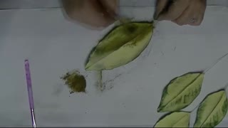 painting back part of leaves