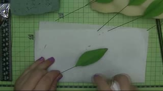 paint and glaze the leaves